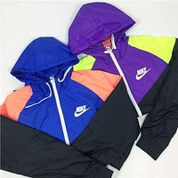 NIKE Fashion Hooded Sweatshirt Zipper Cardigan Coat Jacket Windbreaker-2