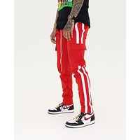 Track Cargo Pants (Red/White)