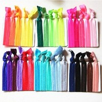 30Pcs Girl Charm Elastic Hair Ties Rubber Band Knotted Hairband Ponytail Holder