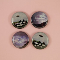 "1"" x-files buttons"
