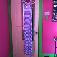 NWOT Blue and white stripped Maxi dress