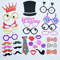 Funny Party® 30pcs Photo Props Birthday Party Photo Booth Props Diy Kit