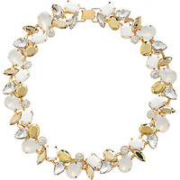 River Island Womens White opal and gem short necklace