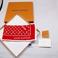 NEW Supreme x Louis Vuitton red bandana Monogram -100% Authentic japan F/S