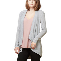 LE3NO Womens Long Sleeve Flowy Open Knit Cardigan