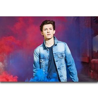 S724 Tom Holland Spider Man Actor Movie Star Wall Art Painting Print On Silk Canvas Poster Home Decoration