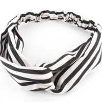 [Sports Giveaways] New Women Elastic Headwear Turban Twisted Knotted Hairband Wrap Bandana Style 5
