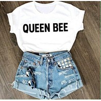 Queen Bee Cotton Tee Summer Tops Girl's T-Shirt= 4613588420
