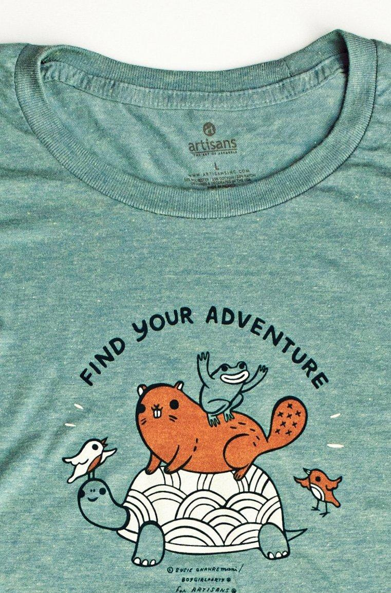 Image of Find Your Adventure Women's Shirt -- Super Soft Tee
