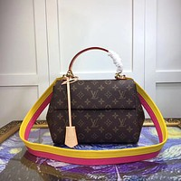 LV Louis Vuitton WOMEN CLUNY MONOGRAM CANVAS HANDBAG