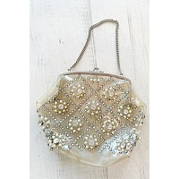 Vintage Clear Rhinestone Purse