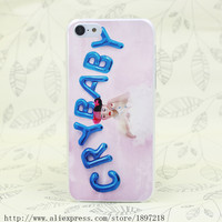 3256T Melanie Martinez Cry Baby Hard Transparent Cover Case for iphone 4 4s 5 5s 5C SE 6 6s Clear Cell Phone Cases msc