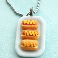 Hotdog Sandwich Platter Necklace