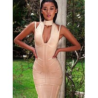 Akilah Deep V Bandage Dress