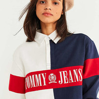 Tommy Jeans '90s Cropped Rugby Shirt | Urban Outfitters