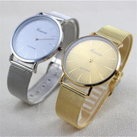 Famous Brand Gold Silver Casual Quartz Watches Women Metal Mesh Hour Clock Stainless Steel Dress Wrist Watch Reloj Mujer Gifts