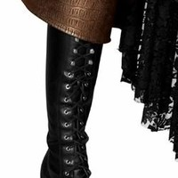 Sexy Back Tie Pirate Boot Covers Halloween Accessory