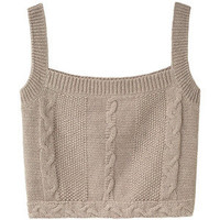 Opening Ceremony Cropped Cable Tank