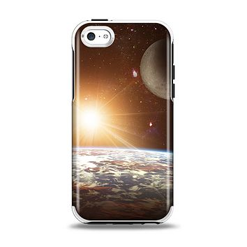 The Earth, Moon and Sun Space Scene Apple iPhone 5c Otterbox Symmetry Case Skin Set