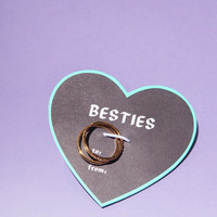 Besties Gift Card Midi Ring Set - Urban Outfitters