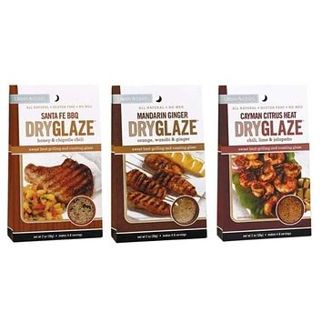 Urban Accents All Natural Grilling And Roasting DryGlaze 3 Flavor Variety Bundle