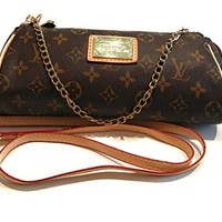 Women's Canvas Pochette Monogram Double-use Chain Flap Bag Small Crossbody Bag Shoulder Bag inspired by LV