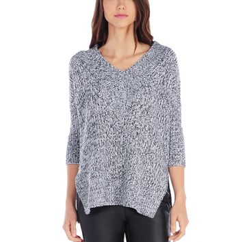 RD Style 3/4 Sleeve V Neck Sweater