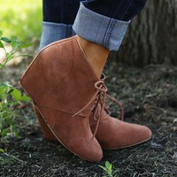 Toms-Girls Wedged Booties