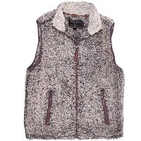 Frosty Tipped Double Up Vest in Charcoal by True Grit