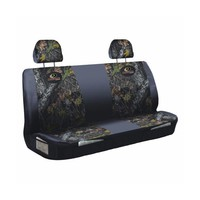Mossy Oak Black and Camo Universal Bench Seat Cover