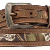 Nocona Youth Brown and Mossy Oak Camo Belt - N44192222