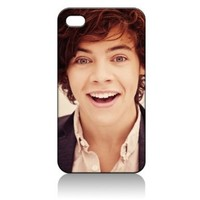 Harry Styles One Direction Hard Case Cover Skin for Iphone 4 4s Iphone4 At&t Sprint Verizon Retail Packing:Amazon:Everything Else
