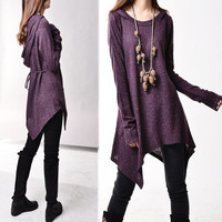First line of the poem - knits tunic dress (Q5101)