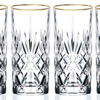 Sienna Collection Crystal Beverage Glass, Set of 4