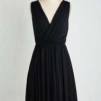 LBD Mid-length Sleeveless A-line Chic-a-Boo, I See You Dress
