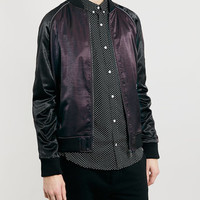 PURPLE SATIN BOMBER JACKET - New This Week - New In