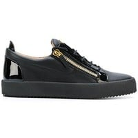 Giuseppe Zanotti Design Men's RU70000002 Black Leather Sneakers