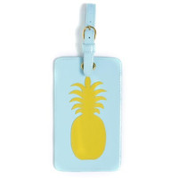 LoloBag - Luggage Tag / Blue w/Yellow Pineapple
