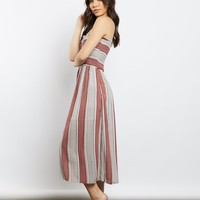 Margaret Striped Smocked Dress