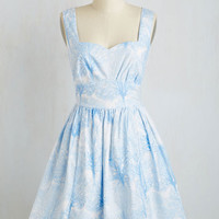 Mid-length Sleeveless Fit & Flare Snowfalling For You Dress