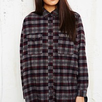 Silence + Noise Extreme Oversized Shirt in Tartan - Urban Outfitters