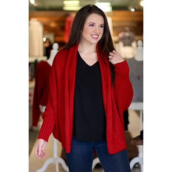 Campfire Stories Cardigan {Red}