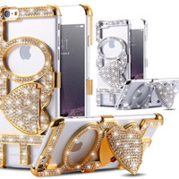 "Bling ""Love"" Diamond Case For iPhone 6 6S 4.7"" /6 6S Plus 5.5"""