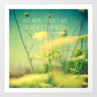 We Were Together Art Print by Olivia Joy StClaire