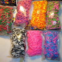 4200 twist bandz Rainbow loom rubber bands refills 7bags with C-clips