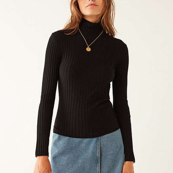 Silence + Noise Macy Ribbed Knit Turtleneck Sweater | Urban Outfitters