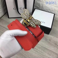 GUCCI Belt Top quality Women Fashion Jewellery Buckle Belt GG LOGO Leather Belt