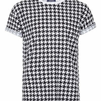 MONO DOGTOOTH PRINT T-SHIRT - New This Week - New In