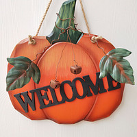 European Pastoral Style Creative Pumpkin Welcome Wall Hanging Decoration Country Thanksgiving Wall Decoration Wall Hanging