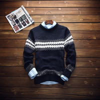 Mens Warm Winter Slim Fit Sweater Knitwear
